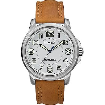 Timex Tw4B16400 Men'S Expedition   Metal Field Tan Leather Strap Watch
