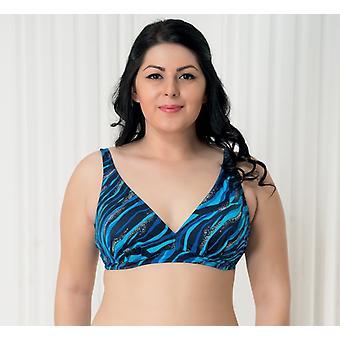 Aqua Perla Naisten Bahia Blue Bikini Top Plus Koko