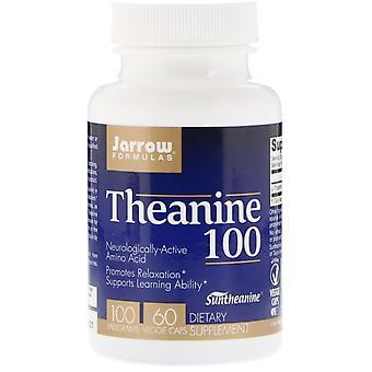 Formules Jarrow, Théanine 100, 100 mg, 60 Bonnets de légumes