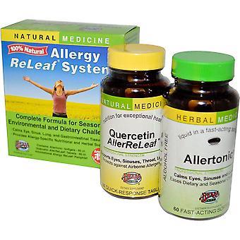 Herbs Etc., Allergy ReLeaf System, 2 Bottles, 60 Softgels/Tablets