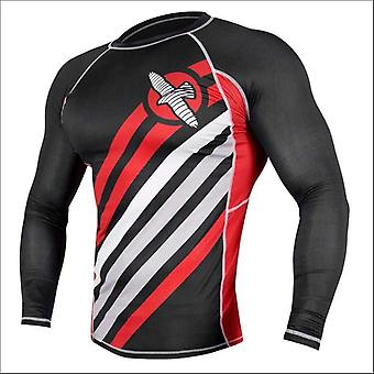 Hayabusa elevate long sleeve rash guard - black - size small