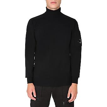 C.p. Company 09cmkn101a005528a999 Men's Black Wool Sweater