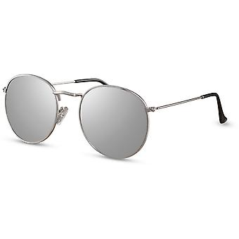 Solbriller Unisex runde sølv (CWI2161)