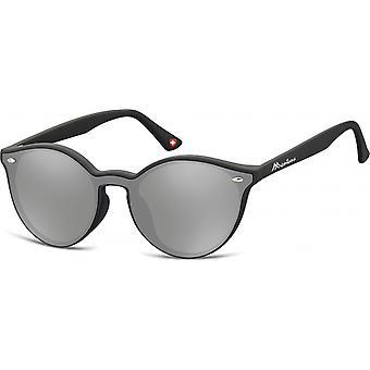 Sunglasses Unisex panto matt black/grey (MS46)