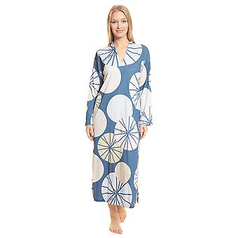 Féraud Couture 3201213-16362 Women's Multicolour Grafik Geometric Cotton Nightdress