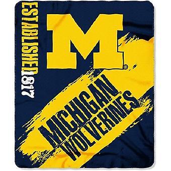 Michigan Wolverines NCAA Northwest Fleece Throw