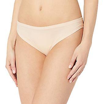 Merk - Mae Women&s Standard 3 Pack Perfect FIT Bikini, as/Jet Black, Geroosterde Amandel, MEDIUM