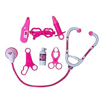 7pcs/set Kids Play Doctor Game Toy Children- Simulation Hospital Pretend Kit Child Stethoscope Cosplay Toys Ty0328