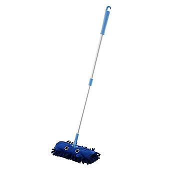 Mini Simulation Cleaning Toys- Child Mop Broom & Dustpan Set Sweeping House Telescopic Tablet Drag