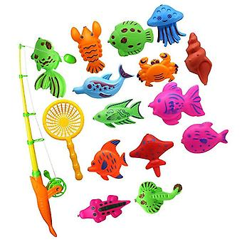 Magnetic Fish Model Set With Rod And Fishing Net