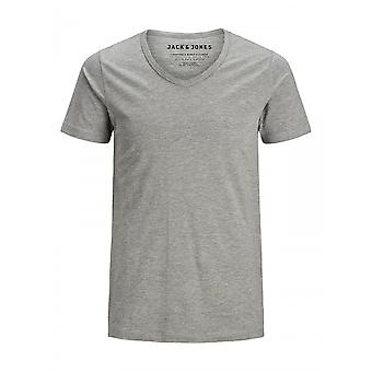 Jack & Jones Basic V Neck Tee (lichtgrijs)