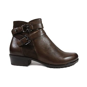 Caprice 25309 Brown Combination Suede/Leather Womens Ankle Boots