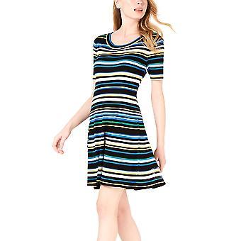 Maison Jules | Striped A-Line Sweater Dress
