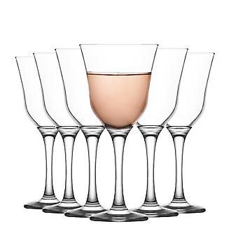 LAV Vals Vidrio Tinto Gafas Set - Vintage Glass Goblets Glassware - 370ml - Pack de 6