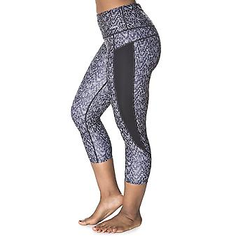 Handful Women Squeeze Play High-Waisted Workout Capri Leggings w/ Pocket Off the Grid XS