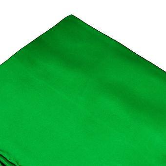 Solmiot Planet Plain Green Silk Pocket Square