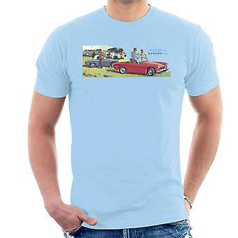 Austin Healey Sprite Mk II Race Day British Motor Heritage Men's T-Shirt