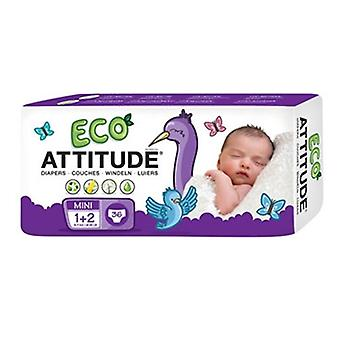 Attitude Diapers Size 1-2 (6-15 Lbs), 36 CT