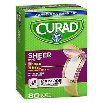 Curad Sheer Adhesive Bandages 3/4X3, Regular 80 Elk