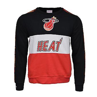 Mitchell & Ness Leading Scorer Fleece Crew Miami Heat FCNKDF18025MHEBLCK universal all year men sweatshirts