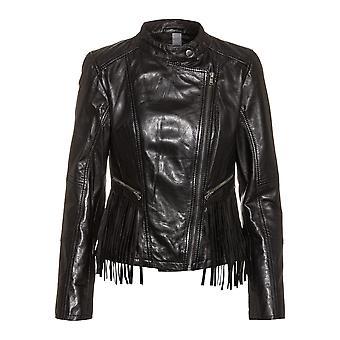 Women's Leather Jacket Fray