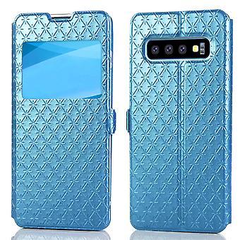 Flip Case för Samsung Galaxy S10 Blå saigedianzi-3