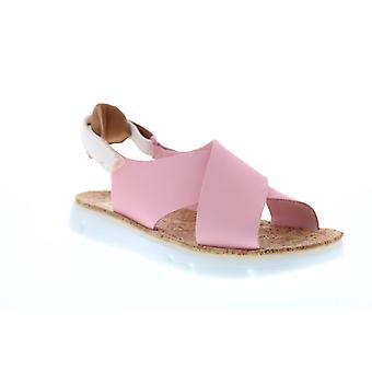 Camper Oruga Sandal Naisten Vaaleanpunainen Nahka Slingback Sandaalit Kengät