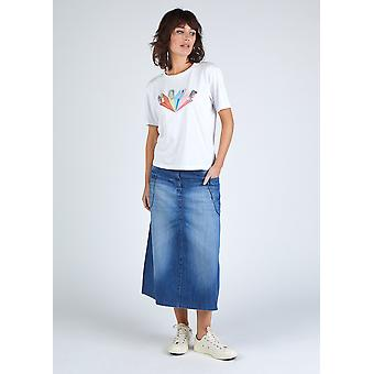 The #8001 panel skirt - washed