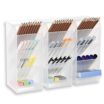 Desk Organizer For Office, School, Home Supplies, With 4 Slots And 12