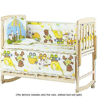 Baby Bedding Linen Bumpers, Cot Pure Cotton Sheets Animated Cradle Toddlers