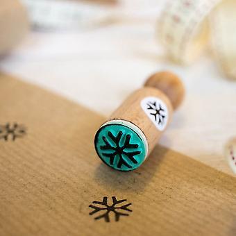 Snowflake Christmas Rubber Stamp - VERY MINI - Xmas Craft / DIY Tags