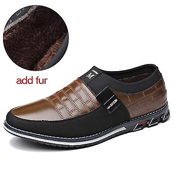 Genuine Leather Men Casual Loafers Breathable Slip-on Driving Shoes