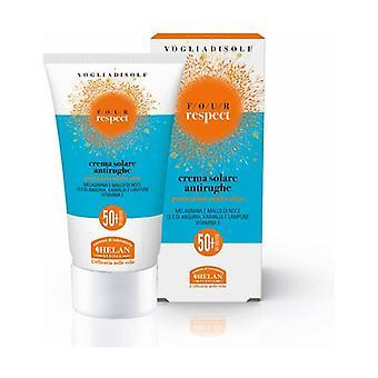 Vogliadisole Respekt - Anti-Wrinkle Solkrem Svært Høy Beskyttelse SPF 50 + 50 ml krem