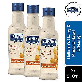 Hellmann's Aderezo de Ensalada de Miel y Mustard con Ingredientes Naturales 3 Btls de 210mlney&Mustard Ensalada Aderezo con Ingredientes Naturales 3 Pks de 210ml