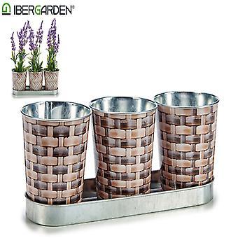 Planter Metallkorg (3 stycken) (10 x 10