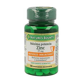 Zinc (Zinc Gluconate) 100 tablets of 25mg