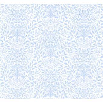 Dolls House William Morris Design Acorns Mini 1:24 Wallpaper Blue