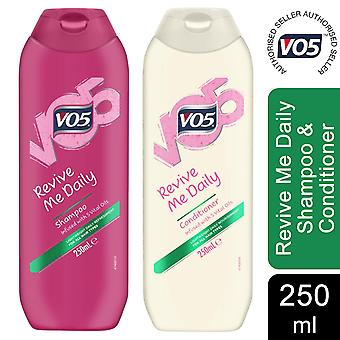 250ml VO5 Revive Me Daily Shampoo&Conditioner With Vital oils For All Hair Types