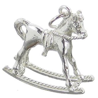 Rocking Horse Sterling Silver Charm .925 X 1 Toys Childs Nursery Charms - 48
