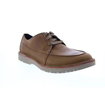 Clarks Vargo Vibe Mens Brown Lederen Teen Oxfords Schoenen