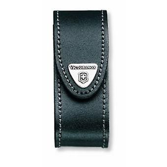 Victorinox sort læder bælte pose (2-4 lag) -