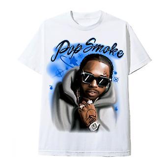 Hommage de tee-shirt blanc de fumée pop