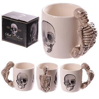 Nieuwigheid skelet ontwerp gevormd handvat mok