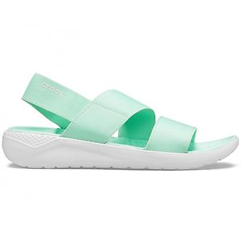 Crocs 206081 Literide Stretch Sandal Ladies Sandals Neo Mint/almost White