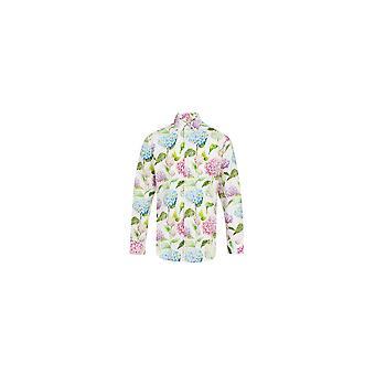 Jenson Samuel Lilac Floral Long Sleeved Print Regular Fit Shirt