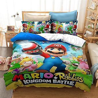 Home Textile 3d Mario Bro Bedding Sets, Single Double Bedclothes