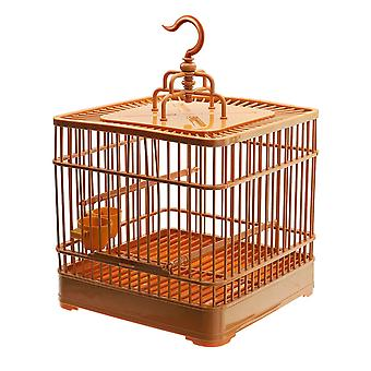 Birds Cage Plastic Hanging Feed Holder Parrot Macaw Pets Carrier