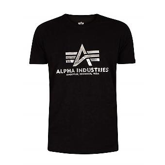 Alpha Industries Basic Foil Print 100501FP530 universal miesten t-paita