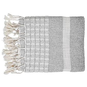 Dusk Stripe Throw, Grey & White - 50x60 Inch