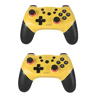Stuff Certified® 2-Pack Gaming Controller for Nintendo Switch - NS Bluetooth Gamepad with Vibration Yellow